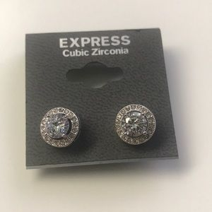 Express silver stud earrings - never worn